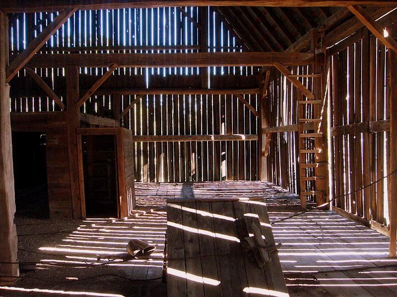 Farm 2009 - inside barn