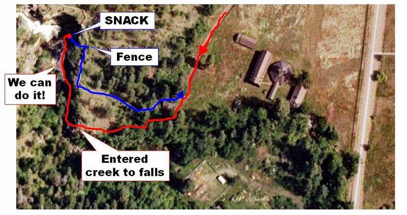 Fintry falls map2