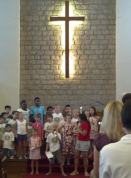 Kids as vbs choir - aug 2011