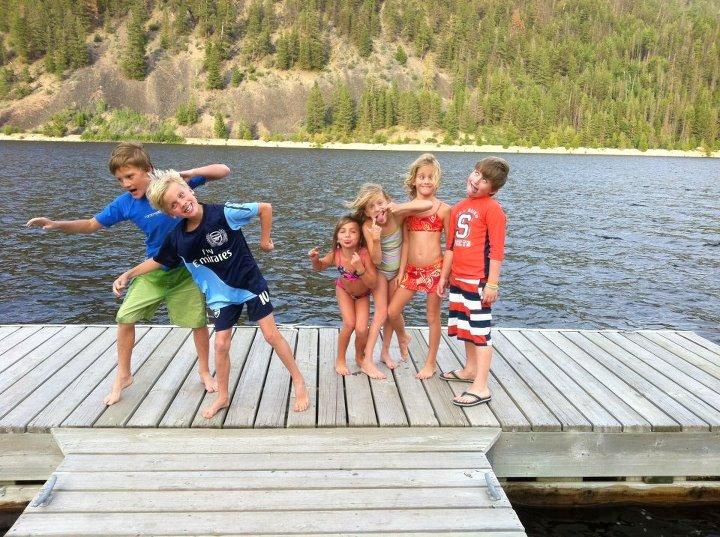 Kids on dock - jul 2012