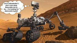 Rover curiosity w cartoon
