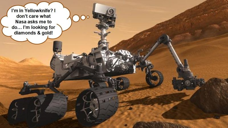 Rover curiosity w cartoon