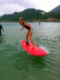 Carys - surfing 1 may 2013
